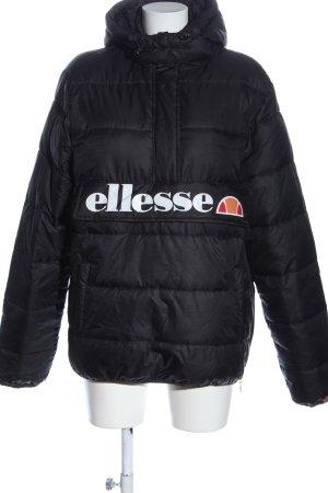 Ellesse Kapuzenjacke schwarz-weiß Steppmuster Casual-Look