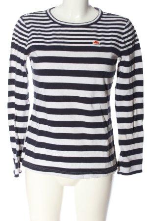 Ellesse Longsleeve weiß-schwarz Streifenmuster Casual-Look