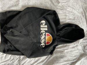 Ellesse Pullover in pile nero-bianco