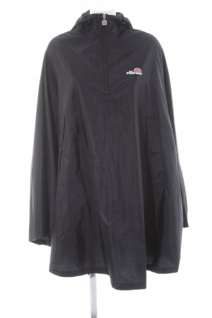 Ellesse Rain Poncho black-white printed lettering casual look