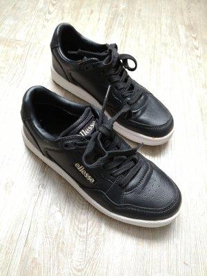 Ellesse Sneaker Turnschuhe schwarz 38 weiß Halbschuhe
