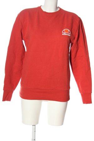 Ellesse Sweatshirt rot Schriftzug gedruckt Casual-Look