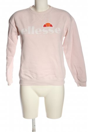Ellesse Sweatshirt pink Schriftzug gedruckt Casual-Look