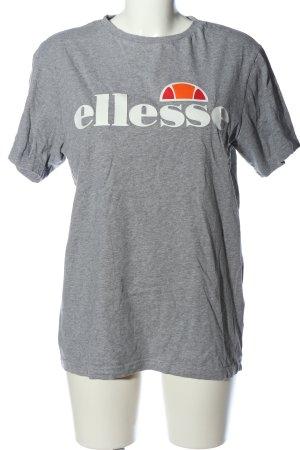 Ellesse T-Shirt hellgrau-weiß meliert Casual-Look
