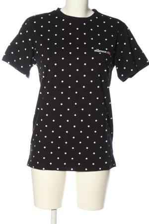 Ellesse T-Shirt schwarz-weiß Allover-Druck Casual-Look