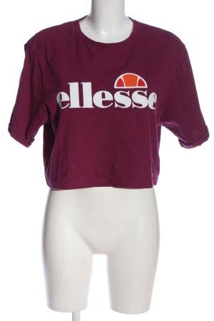 Ellesse T-Shirt rot Schriftzug gedruckt Casual-Look