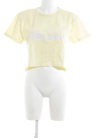 Ellesse T-Shirt hellgelb Casual-Look