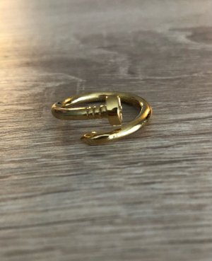 Elli Ring aus Silber Nagel Ring Nagelring Fingerring 925 Silber Ring vergoldet Gold Vergoldung