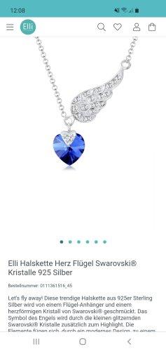 Elli Naszyjnik srebrny-niebieski