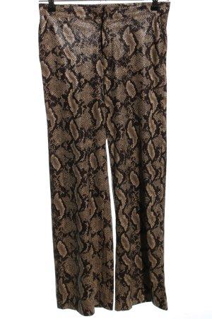 Elli White Spodnie Marlena brązowy-czarny Na całej powierzchni