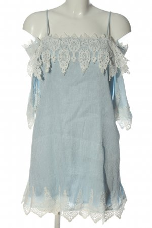 Elli White Minikleid blau-weiß Casual-Look