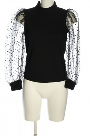 Elli White Schlupf-Bluse schwarz Punktemuster Elegant