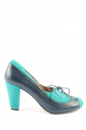 Ellipse High-Front Pumps blue-turquoise casual look