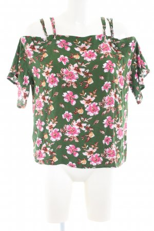 Elodie Kurzarm-Bluse Allover-Druck Casual-Look