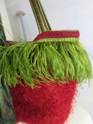 Traditional Bag multicolored mohair