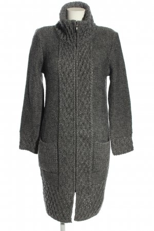 Elsamanda Knitted Coat light grey cable stitch casual look