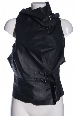 elsewhere Leather Vest black casual look