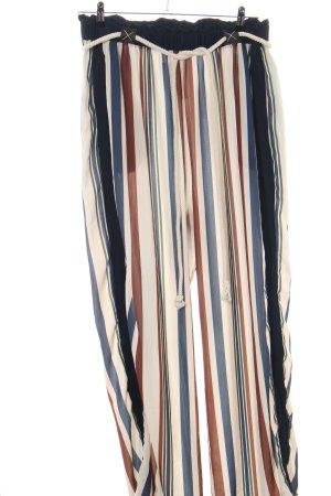 Pantalone culotte motivo a righe stile casual