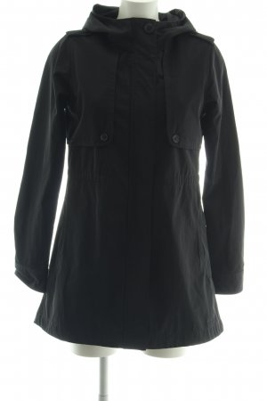 Elvine Cappotto con cappuccio nero stile casual