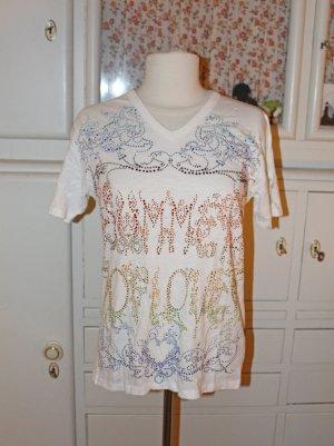 Elvis+Jesus Designer T-Shirt, über und über mit Strass besetzt