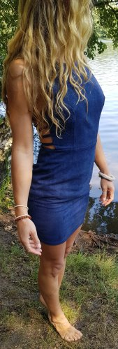 emanuelle suede dress  kleid rückenfrei ibiza coachella Festival boho hippie