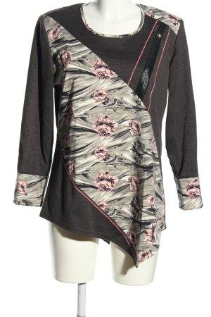 Emark Longsleeve hellgrau-pink Blumenmuster Casual-Look
