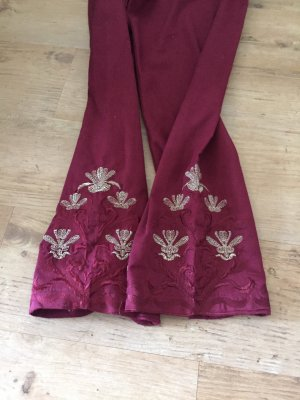 Embroided trouser