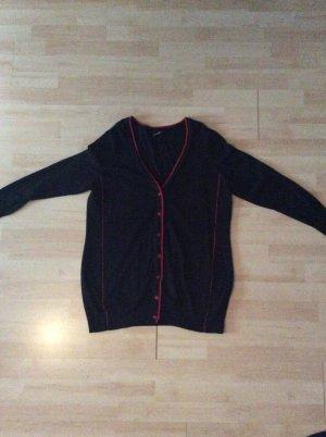 Emilia Lay Feinstrickjacke Gr 44/46 rot/ schwarz
