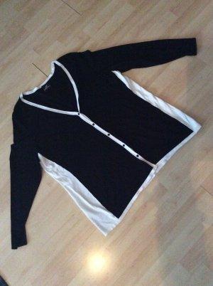 Emilia Lay Feinstrickjacke Gr 44/46 schwarz- weiß