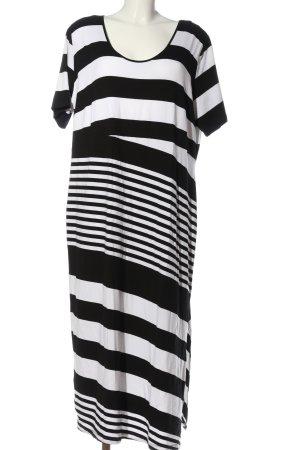 Emilia Lay Kurzarmkleid schwarz-weiß Streifenmuster Casual-Look