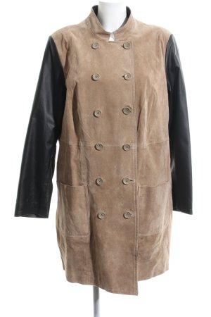 Emilia Lay Leather Coat bronze-colored-black business style