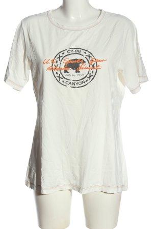 Emilia Lay T-Shirt wollweiß Schriftzug gedruckt Casual-Look