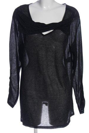 Emilia Lay Transparenz-Bluse schwarz Casual-Look
