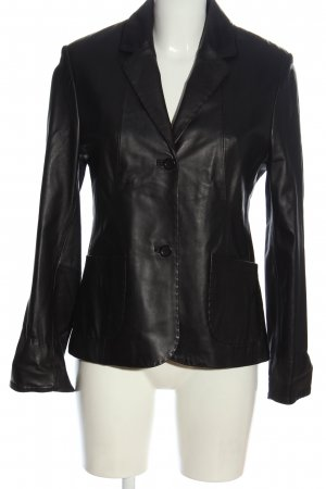 Emilia Romana Blazer en cuir noir style décontracté