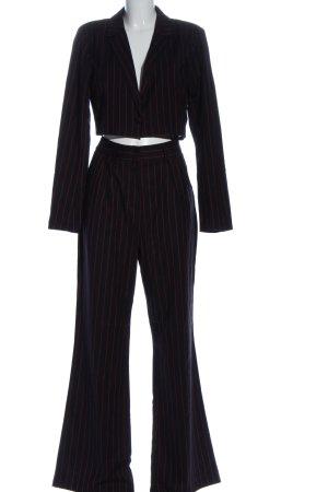Emilie Briting for Na-Kd Twin set in maglia nero-rosso stampa integrale