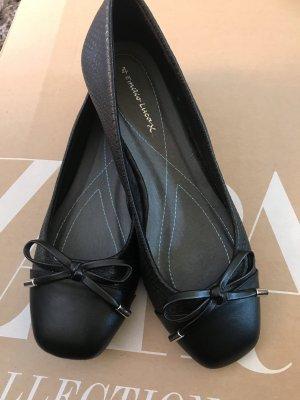 Ballerina's met bandjes zwart