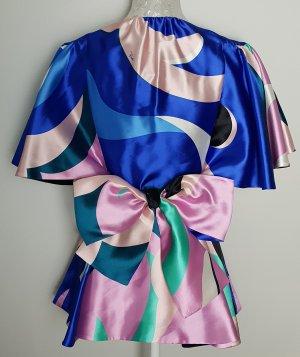 Emilio Pucci Blusa in seta multicolore