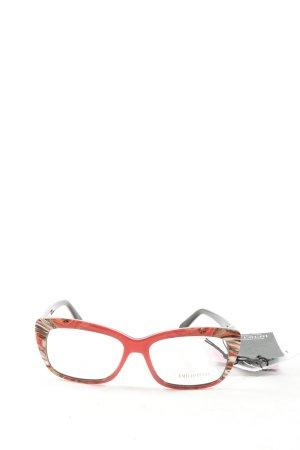 Emilio Pucci Brille rot-schwarz Farbverlauf Casual-Look