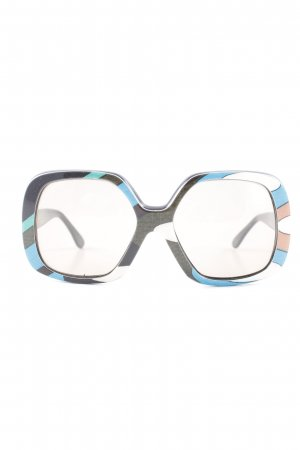 Emilio Pucci Brille abstraktes Muster Street-Fashion-Look