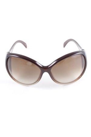 Emilio Pucci Butterfly bril zwart bruin-goud verfraaid patroon