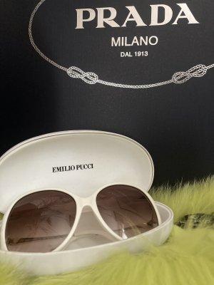 Emilio Pucci Lunettes de soleil ovales blanc