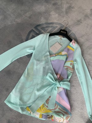 Emilio Pucci Flounce Top multicolored silk