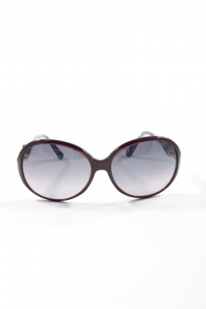 Emilio Pucci ovale Sonnenbrille rot-blau abstraktes Muster Casual-Look