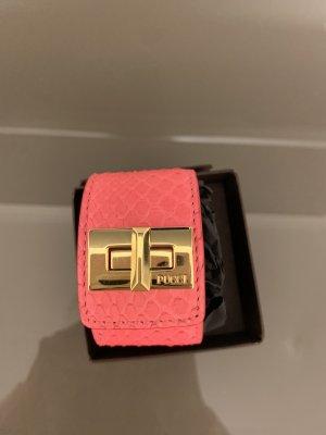 Emilio Pucci Python Leder Armband Pink