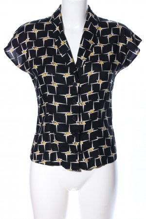 Emily and fin Kurzarm-Bluse Allover-Druck Business-Look