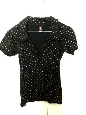 Emily the Strange schwarzes T-Shirt mit Puffärmeln