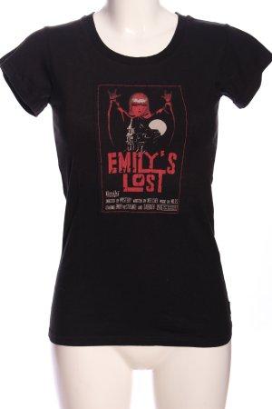 Emily the Strange T-Shirt schwarz-rot Motivdruck Casual-Look