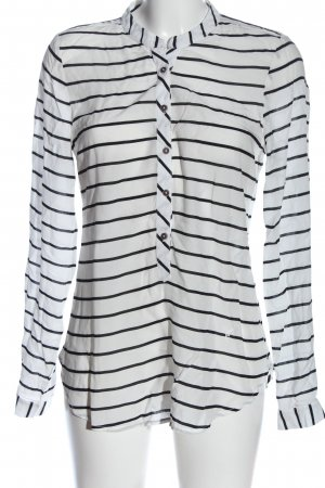 Emily van den Bergh Hemd-Bluse weiß-schwarz Allover-Druck Casual-Look