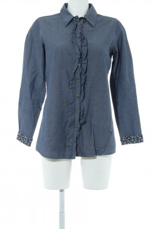 Emily van den Bergh Hemd-Bluse blau Casual-Look