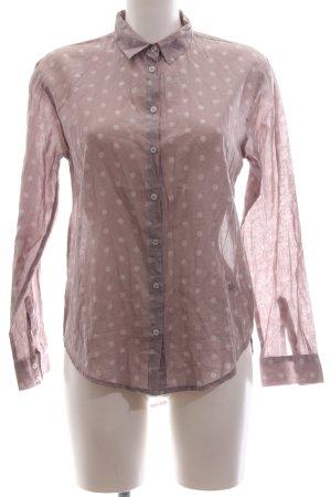 Emily van den Bergh Hemd-Bluse pink-weiß Punktemuster Business-Look